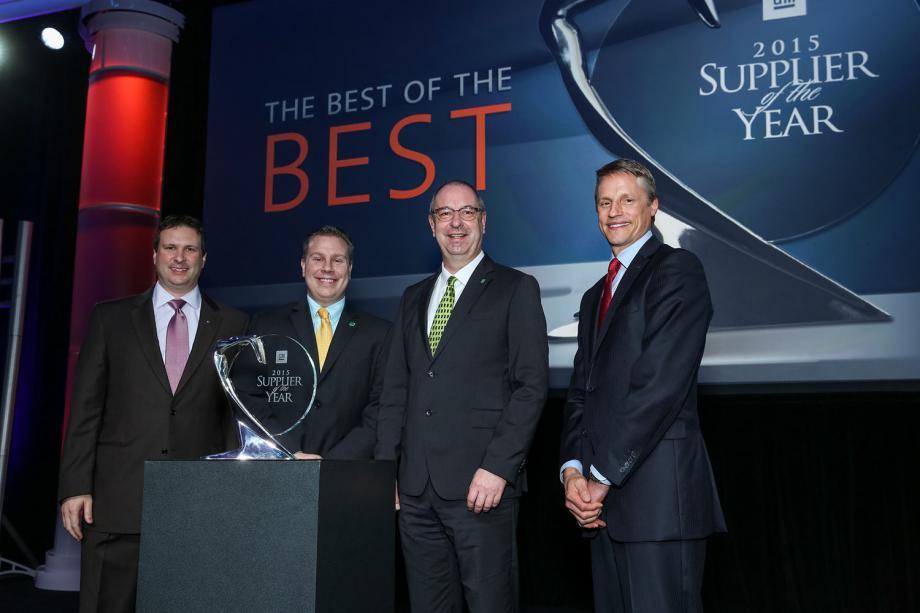 MANN+HUMMEL reconocido por General Motors como ganador del premio al Proveedor del Año 2015